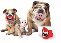 Wholesale Wacky Funny - Funny Pet Lips Toy Plaything Sound dog Toys Personality Big Dogs Lips Wacky A voice Toy Piggy Nose Squeak Sound Dog Chewing