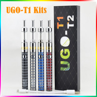 Wholesale Electronic Cigarette Adjustable Wattage - UGO-T1 electronic cigarette kits M14 Airflow Control Vaporizer 650mah Variable Wattage battery adjustable voltage UGO T1 e cigarette kits