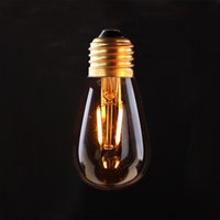 Wholesale Edison E26 Base - Vintage LED Filament Light Bulb,Edison ST45   S14 Style,1W 2200K,E26 E27 Base ,Decorative Lighting Lamp,Dimmable (Amber Glass)