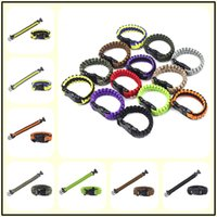 200Colors Self-rescue Cord Rope Paracord Buckle Braceletes Military Bangles Sport Outdoor Aids Gadgets para Camping Escalada