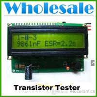 Wholesale Transistor Tester Inductance - wholesale NEW TRANSISTOR TESTER CAPACITOR ESR INDUCTANCE NPN PNP MOSFET RESISTOR METER Lots30