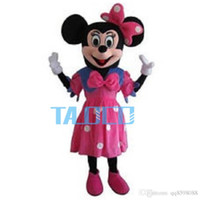 Wholesale Cartoon Character Costume Minnie Mouse - Pink Dress Minnie Mouse Mascot Costume Cartoon Character Adult Suit Express