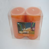 Wholesale Wholesale Red Pillar Candles - 30 Hours Scented Candles Pillar Candle With A Variety Of Fragrance,Aroma Paraffin Wax Aromatherapy Candles 2pcs In pack Product Code:75-1006