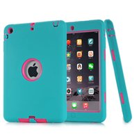 Wholesale Ipad Protector Case For Kids - For iPad mini 1 2 3 Retina Kids Baby Safe Armor Shockproof Heavy Duty Silicone Hard Case Cover Screen Protector Film+Stylus Pen