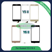 Wholesale Huawei 4g 3g - For Huawei Y5 II Y6 II Touch Screen Glass Lens Panel Digitizer New Hot Replacement Parts Black White 3G 4G Free Shipping