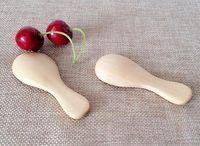 Wholesale Tableware Wooden Spoon - New Arrive Wooden Tea Spoon Creative Tableware Kusunoki Baby Milk Spoon Wood Dinnerware Coffee Spoon