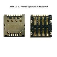 Wholesale Lg Optimus S - Wholesale-50PCS lot new for LG Optimus G2 F320 F240L S K E980 E988 SIM card reader connector socket contact module free shipping