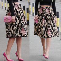 Wholesale Dress Skirts For Women - 1Pcs Brand New Classic Retro Flower Printed Skirts Princess Dress for Women 1 Pc Free Shipping[CW10277]
