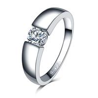 ingrosso colore bague-uomini liberi di trasporto 18K anello di nozze di colore argento Anelli di fidanzamento Zirconia Anel gioielli donne amore Bague Anillos Mujer regalo