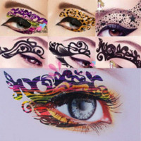 Augenfelsenaufkleber Kaufen -10 stücke Mode Tatoo Sexy Frauen Augen Rock Aufkleber Transfer Kristall Temporäre Tattoo Schönheit Make-Up # 60681 make-up tiefe ...