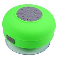 Wholesale Sucker Mini Speaker Wireless - Waterproof Wireless Bluetooth Speaker Dustproof Mini Speakers Handfree Sucker Colorful BTS-06 HOT Good Quality Paper package