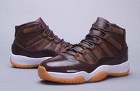 Wholesale Golf Sporting Goods - Retro 11 XI Mens Basketball Shoes archenemy Chocolate High Top Men Sneakers Basketball Shoes Good Quality Sports Training Shoes