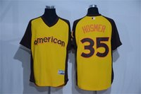 Kansas City Royals Eric Hosmer Hommes Majestic Yellow 2016 All-Star Game Refroidir Base de Batting Practice Jersey Joueur