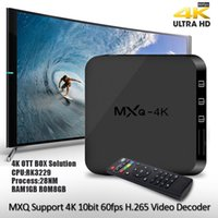 Wholesale Uk Sd - Android 6.0 TV Box MXQ-4K Quad Core 8G 1G Rockchip RK3229 Smart TV Box suport WIFI 4K 3D SD