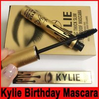 Wholesale Wholesale Slim Fast - Kylie Jenner Mascara Magic thick slim waterproof mascara Black Eye Mascara Long Eyelash Charming eyes Cosmetic Gold Birthday Package
