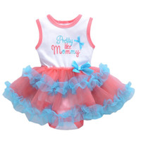 Wholesale Gauze Romper - Pretty Girls Dresses Romper Little Girl's Tutu Lace Gauze Dress Cotton Yarn Children Clothes Babies Dress Soft Dresses For 3-18M Blue A5759