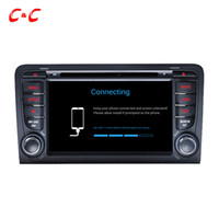 Wholesale dvd screen audi - Quad Core HD 1024*600 Android 5.1.1 Car DVD Player for Audi A3 (2003-2013) with GPS Navigation Radio Wifi Mirror link DVR