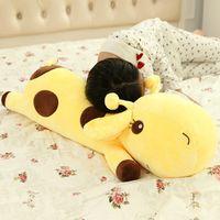 Wholesale Plush Giraffe Pillow - Wholesale-1pc Plush Lie Giraffe Pillow Staffed Deer Plush Toy Nap Pillow Christmas Gift High Quality
