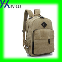 Wholesale Country Patch - 2016 grey canvas backpack bag rubber patch pupular 300pcs exporting to other country oem printing bag