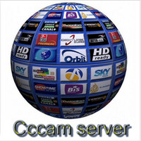 Wholesale Dvb Decoder - 1 Year CCcam Europe 4 Clines Server HD 12 Months account for Spain UK Germany French Italy Poland Satellite Decoder with AV Cable