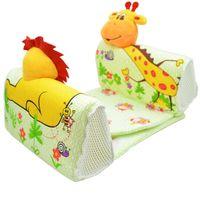 babytierbettwäsche groihandel-Qualitätskindkindbettwäschetier U-Formkissensicheres weiches Kartonbaby-Schlafkissen Anti-Überschlag