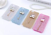 estuches para iphone diamond bow al por mayor-Lujo Bling Glitter Diamond Case para iPhone 6 6s SE 5 5s Fundas Bow Crystal suave cubierta de TPU para iPhone 6 Plus 6s Plus casos