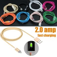 Wholesale Micro Amp - Speed Micro V8 2.0 amp USB Data Cable Cords for Samsung Galaxy S6 s6 edge for Smartphone