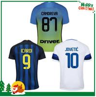 Wholesale Shirt Sport Soccer - 16 17 Inter home away jersey CANDREVA EDER ICARDI JOVETIC 2016 2017 Milan Kondogbia Jovetic Icardi shirts football sports customize