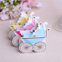 Wholesale Shaping Carts - Wedding Favor Box Baby Cart Bicycle Shape Wedding Box Candy Gift Paper Gift Box Various Colors To Choose Drop Shipping