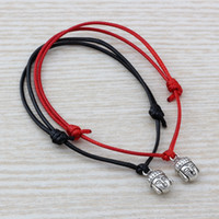 Wholesale buddha head charms for sale - Group buy MIC Adjustable Bracelets Antique silver Alloy Buddha head Charm Adjustable black Red Waxes rope Bracelet B