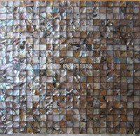 Wholesale 2016 mother of pearl tile freshwater shell mosaic tiles seamless black color home decoration polished shell mosaics tile