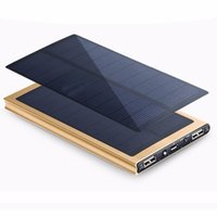 Wholesale Solar Universal Cell Charger - New 20000maH Universal Portable Solar Power Bank Charger Waterproof 18650 Cellphone External Battery Pack Bateria Externa for iPhone