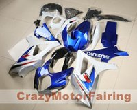 Wholesale Suzuki Gsxr K7 - 3 gifts New Fairing For SUZUKI GSX-R1000 K7 07 08 GSX R1000 GSXR 1000 GSXR-1000 K7 07-08 GSXR1000 2007 2008 Bodywork Cool blue and white