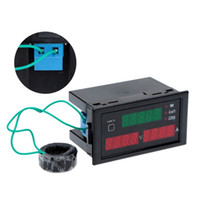 Wholesale Electric Digital Power Meter - AC80-300V 100A Digital LED Current Voltage Tester Meter Electric Energy Power Factor Detection with CT Useful instrument