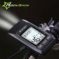 Wholesale Usb Speedometer - ROCKBROS Multifunctiona Bike Computer Bicycle 2.4G Wireless USB Speedometer-Raptor 300LM Light Multifunctional Cycling Waterproof Stopwatch