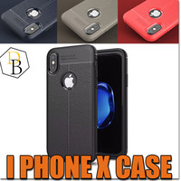Wholesale stitch phone cases online – custom New For iPhone X plus For Samsung S8 New Business Leather Pattern Stitching Phone Case TPU Soft Shell Full Protection Anti drop