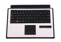Wholesale Microsoft Keyboard Covers - For Microsoft Surface 3 10.8'' Tablet Ultrathin Portable Aluminum Bluetooth Keyboard Touchpad Backlit Case Cover Holder