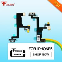 Wholesale Iphone Flash Repair - for iPhone 6 4.7 inch Power On Off Flex Cable Ribbon Replacement Repair Parts Switch Camera Flash Light Sensor