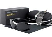 Wholesale Al Alloys - HDCRAFTER brand Polarized Sunglasses men Al Mg alloy anti glare Male Eyewear Outdoor Tourism leisure protection Outdoor sports glasses UV400