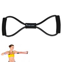 Wholesale Sports Equipment Grip - Wholesale-fitness equipment Hand Gripper Strengths figure 8 exercise tube yoga workout black for wholesale and free shipping kylin sport