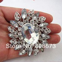Wholesale large clear rhinestone brooch pin for sale - Group buy Silver Plated Large Clear Rhinestone Crystal Bouquet Bridal Pin Brooch