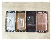 boîtier arrière de l'iphone 5g achat en gros de-Boîtier de porte de la batterie de couverture arrière en alliage clair châssis complet Pour iPhone 5 5G 5S 5C SE 6 6G 6S Plus 6p 6sp logement arrière de la porte de la batterie