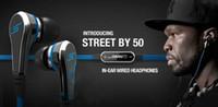 ingrosso auricolari per centesimi-Moda SMS Audio 50 cent In-Ear cuffie Mini 50 cent con microfono e pulsante mute auricolare STREET by 50 Cent auricolari MQ100