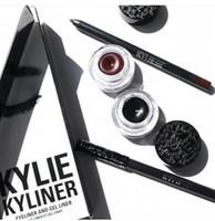 Wholesale Eyeliner Gel Black Brown - Kylie Gel Eyebrow Liner Kit BRAND NEW Kylie Jenner Kyliner Black Brown With Eyeliner Gel pot Brush (1 set =1 eyeliner+ 1 brush + 1 cream)