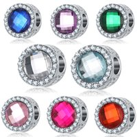 Barato Grânulos Europeus Do Olho De Gato-Olho de gato Pedra Rhinestone Beads DIY Moda Big Hole Loose Beads Fit Europeu Pandora Jóias Pulseira encantos DIY Bangle Natal Gift D179S