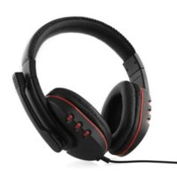 Wholesale earphones headphone usb computer - new Gaming Headphone Headset Earphone for PS4 Voice Control wired HI-FI sound quality Black Red