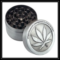 Wholesale Leaf Grinder - High Quality Zinc Alloy Smoking Grinders 4 Parts Amsterdam Metal CNC Grinder 40mm 50mm Diametre Maple Leaf Shaped Grinder Crushers