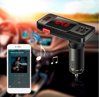 Wholesale Car Style Bluetooth Speaker - New style BT719 Wireless Bluetooth Speaker Car Kit LCD FM Transmitter MP3 Dual USB Charger Support USB AUX TF Handsfree