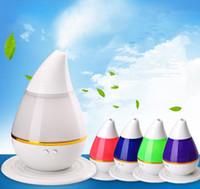 atomiseurs rohs achat en gros de-Diffuseur LED ultrasonique portatif ultrasonique portatif ultrasonique d'humidificateur d'humidificateur de brume fraîche 250ml changeant avec la fonction automatique d'arrêt 40pcs