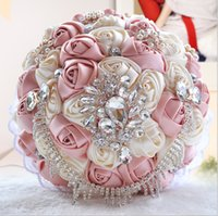 Wholesale Top Chinese Sale - Top Sale Crystal Beaded Bridal Bouquets Colorful Wedding Suppliers Bridesmaid Holding Flowers Handmade 2016 Cheap Manual Bouquet